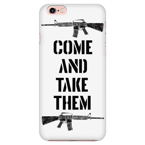 COME AND TAKE THEM - TWIN RIFLES - WHITE - FITS IPHONE 6 / IPHONE 6S