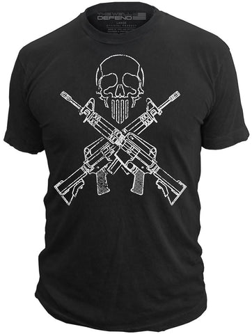 This We'll Defend® - Ghost Operator - T-Shirt AR15 Molon Labe Second 2nd Amendment Gun Tee