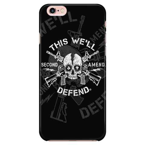 THIS WE'LL DEFEND® - SKULL & GUNZ - BLACK - FITS IPHONE 6 / IPHONE 6S