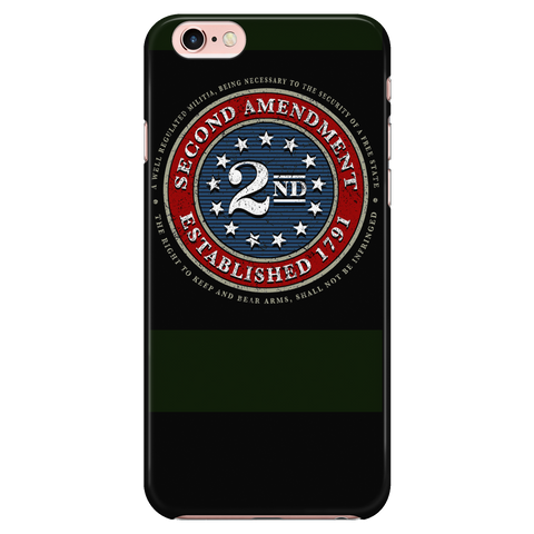 2ND AMENDMENT BRAND - SEAL - BLACK - FITS IPHONE 6 / IPHONE 6S