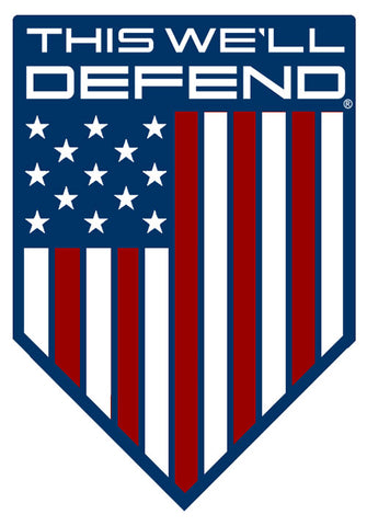 "3"" x 5"" This We'll Defend® American Shield Sticker Decal"