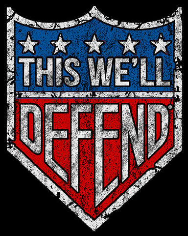 "5"" x 6"" This We'll Defend® Vintage Shield Sticker Decal"