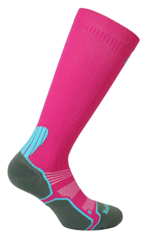 Sport Compression Anti-Bacterial Meryl Skinlife Microfiber Long Calf  Ladies Sock Style: JOAN