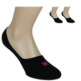 Invisible Cotton Liner with Silicone Heel Grip Ladies Sock 2 Pair Pack Style: SCARLETT