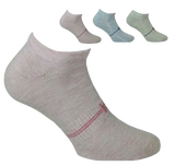Sport Cotton Low Cut Ladies Sock 3 Pair Pack Style: MINNIE