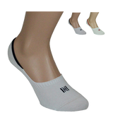 Invisible Cotton Liner  with Silicone Heel Grip Men's Sock 2 Pair Pack Style: LENNY