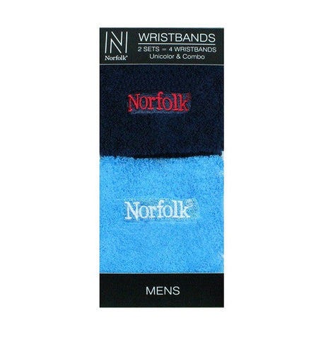 Terry Cushion Men's Wristbands 2 Pair Pack Style: JOEY