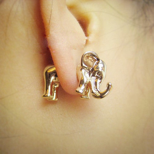 products fashion stud elephant green style cartoon jewelry earrings black cute for animal laken pink women new