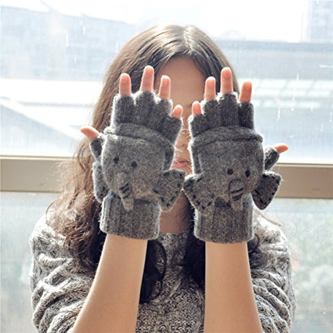 Elephant Knitted Gloves