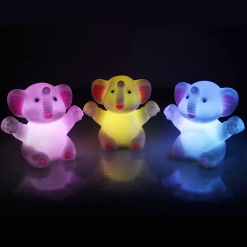 Happy Elephant LED Night Light Lamp (7 Color Changing)