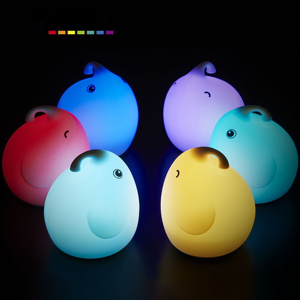 Elephant LED Light Night Lamp (7 Color Changing)