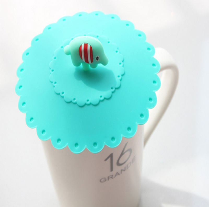 Elephant Leakproof Coffee Mug Suction Lid
