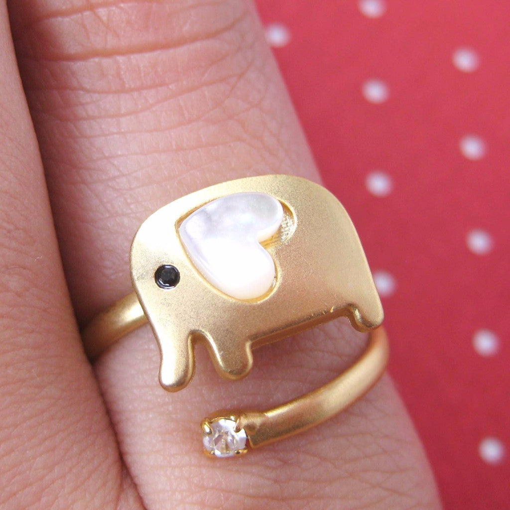 Elephant Love Ring (Adjustable)