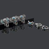 Bohemian Vintage Elephant Ring Set (6 Rings)