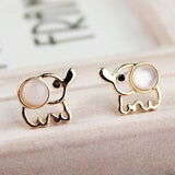 Elephant Earrings With Rhinestone