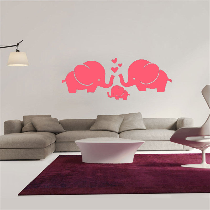 Elephant Family Love Wall Sticker