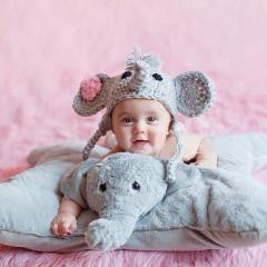 Elephant Baby Crochet Hat