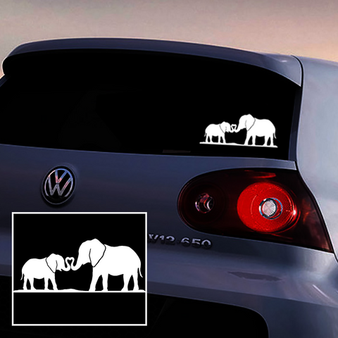 Elephant Family Love Car Sticker