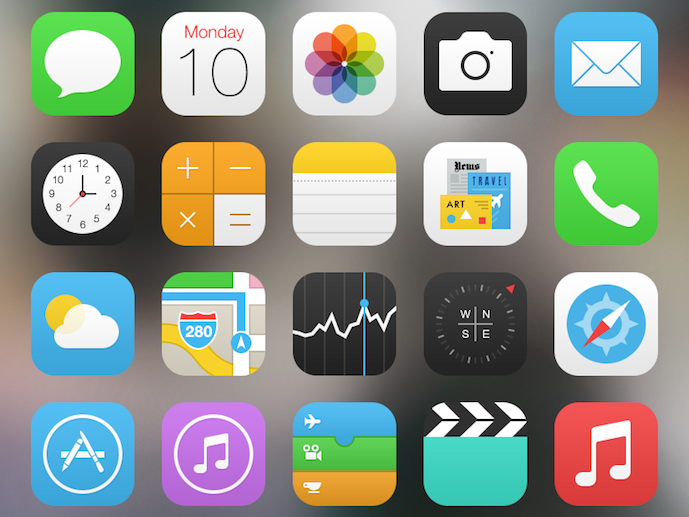 iOS 7 icons gadget grave