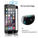3D Full Cover Curved Edge iPhone 7/8 NuGlas (Black)