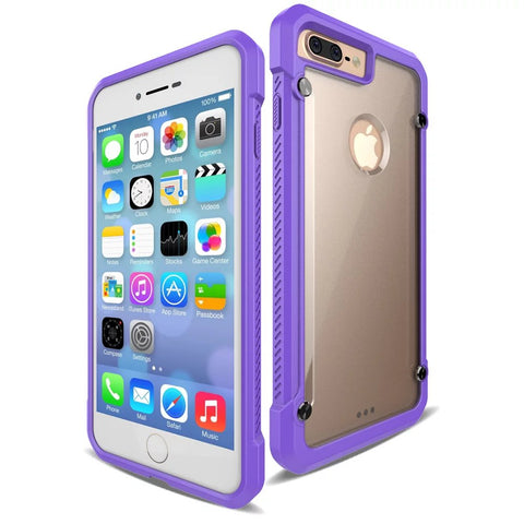 Casephile ClearCase for iPhone 7/8 Plus - Purple