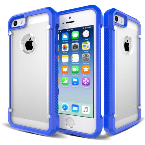Casephile ClearCase for iPhone 5 & 5S & SE - Blue
