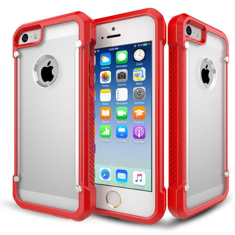 Casephile ClearCase for iPhone 5 & 5S & SE - Red