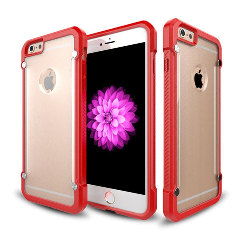 Casephile ClearCase for iPhone 6 Plus & 6S Plus - Red