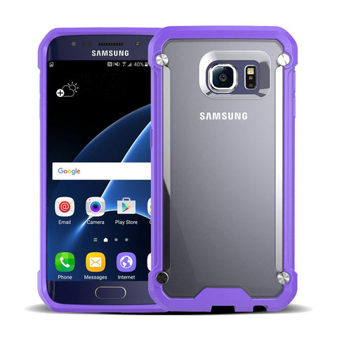 Casephile ClearCase for Samsung S6 - Purple