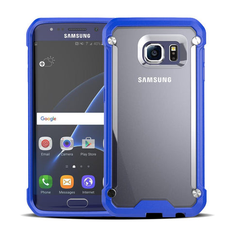 Casephile ClearCase for Samsung S6 - Blue