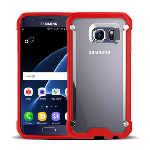 Casephile ClearCase for Samsung S6 - Red