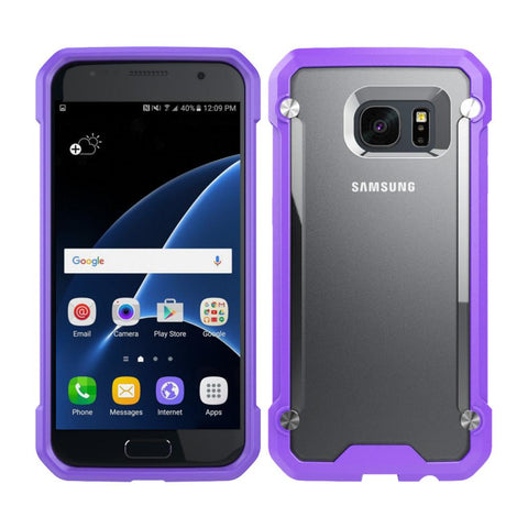Casephile ClearCase for Samsung S7 - Purple