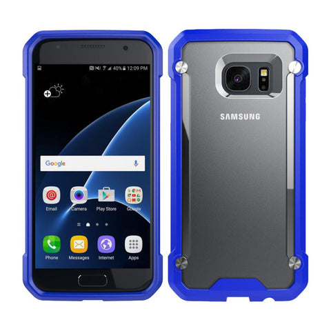 Casephile ClearCase for Samsung S7 - Blue