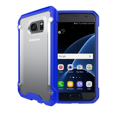 Casephile ClearCase for Samsung S7 Edge - Blue