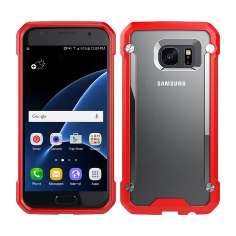 Casephile ClearCase for Samsung S7 - Red