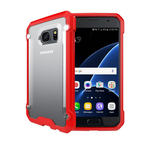Casephile ClearCase for Samsung S7 Edge - Red