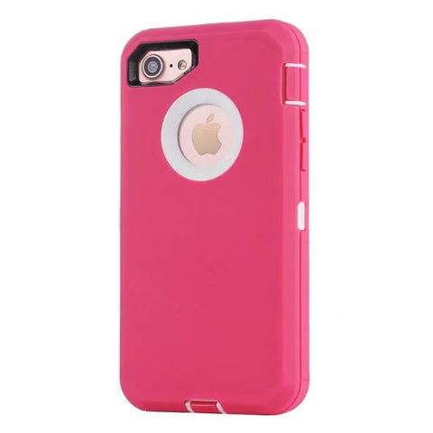 Casephile Defense Case - iPhone 7/8 - Pink & White