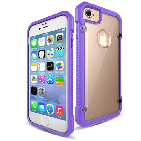 Casephile ClearCase for iPhone 7/8 - Purple