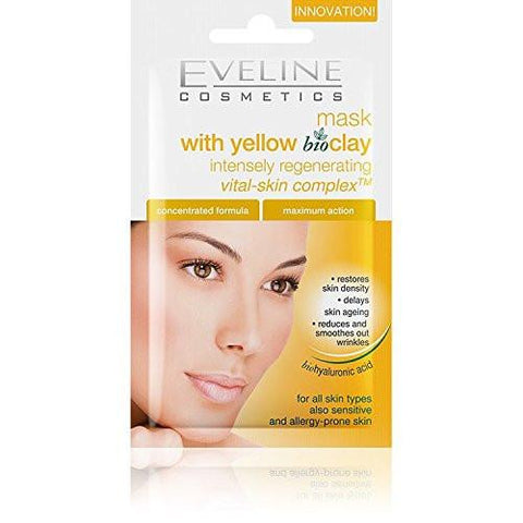 Eveline Cosmetics Intensely Regenerating Face Mask With Yellow Bio-clay