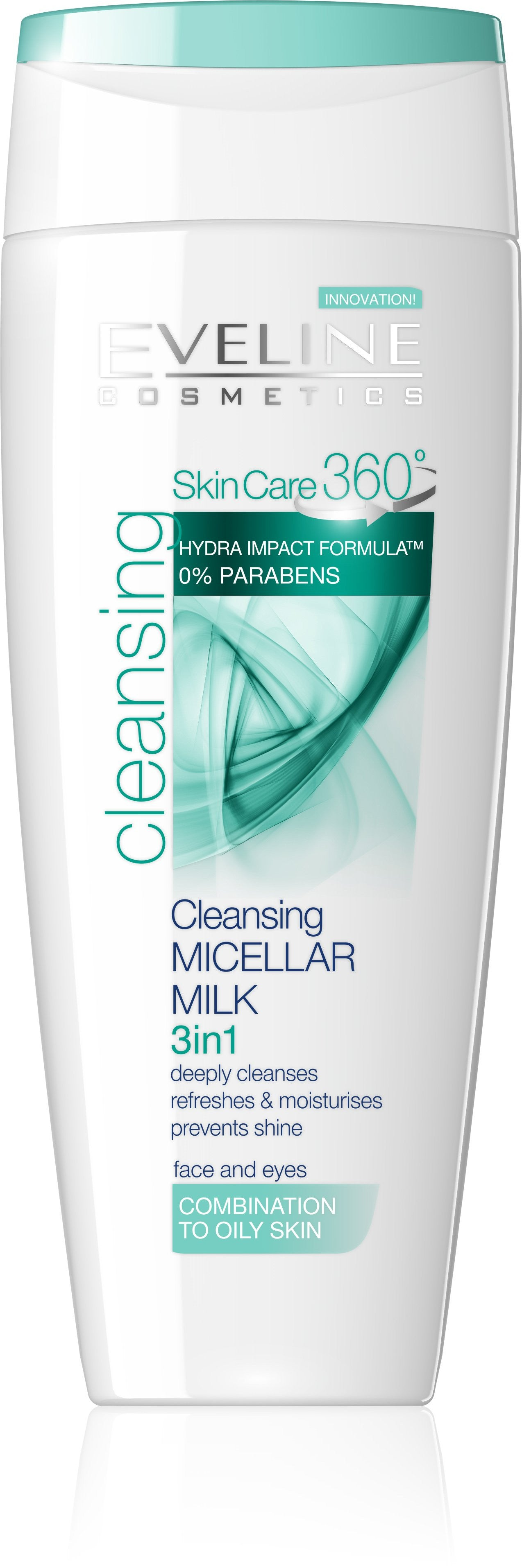 SkinCare 360 Cleansing Micellar Milk 3 in 1 Combination to Oily Skin eveline-cosmetics.myshopify.com