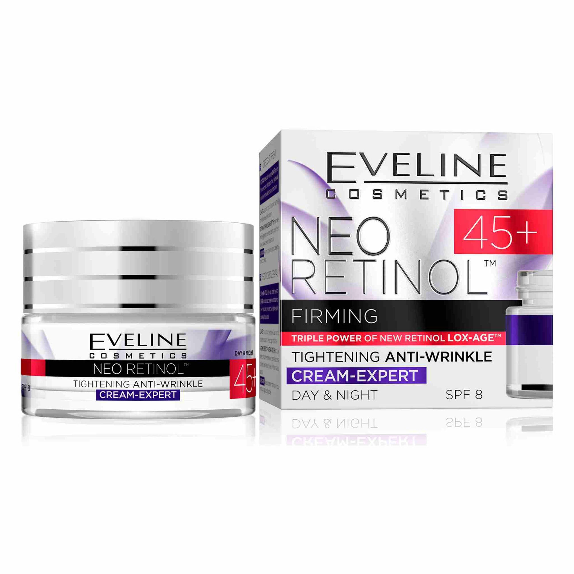 Neo Retinol Moisturizing Anti Wrinkle Day and Night Cream 45+