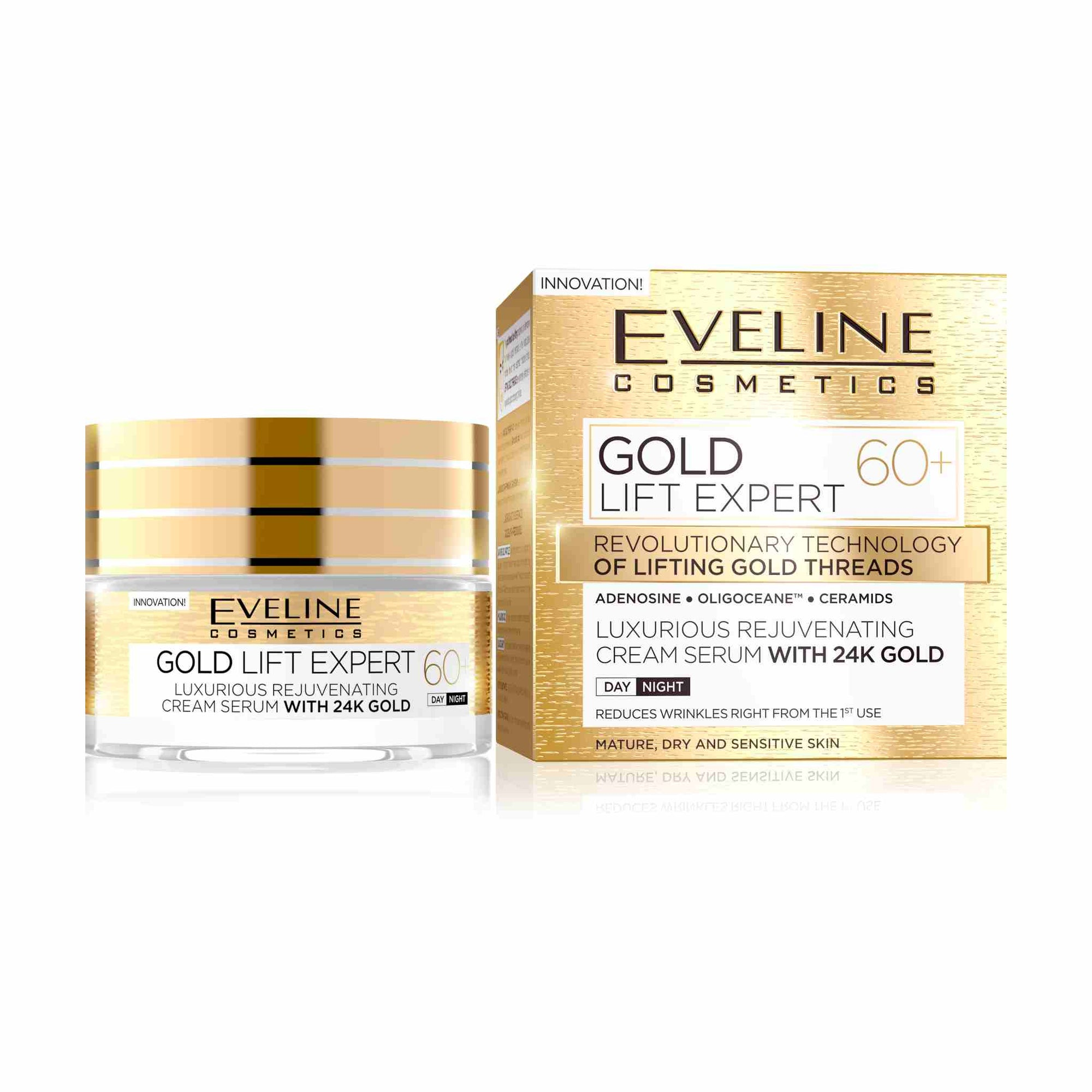 Gold Lift Expert Rejuvenating Cream Serum with 24k Gold 60+
