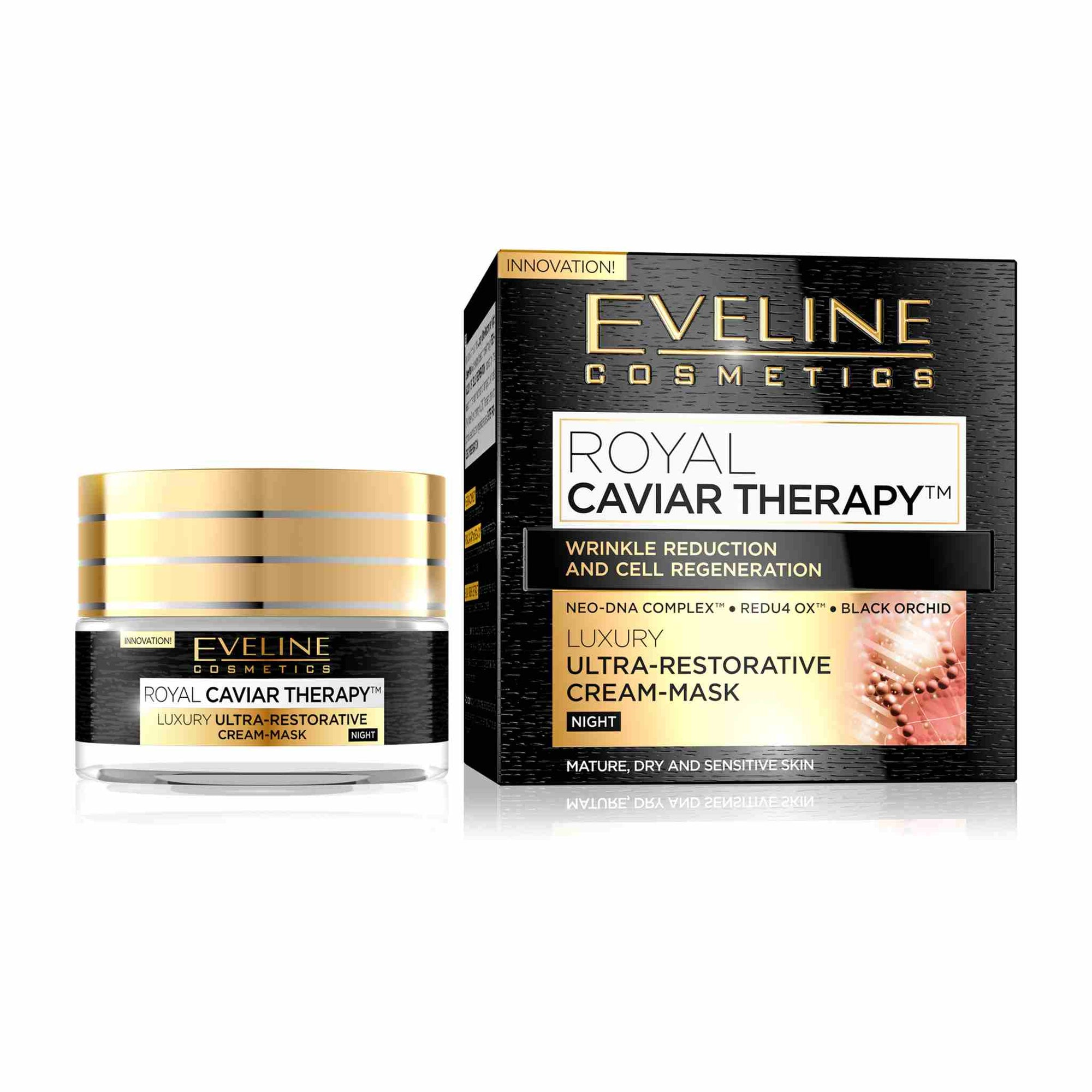 Royal Caviar Therapy Luxury Ultra Restorative Night Cream Mask