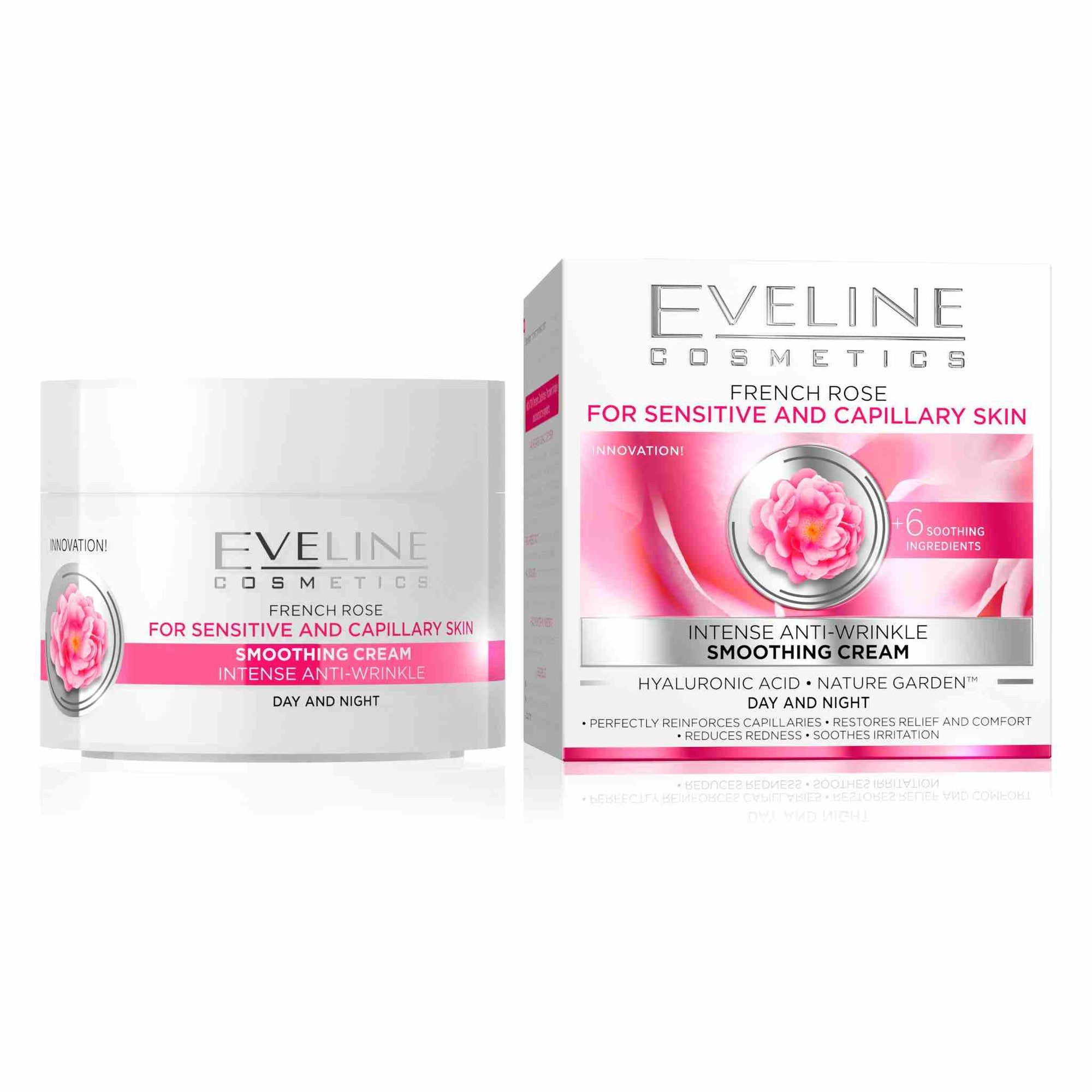 Nature Ling French Rose For Sensitive and Capillary Skin Intense Smoothing Day and Night Cream