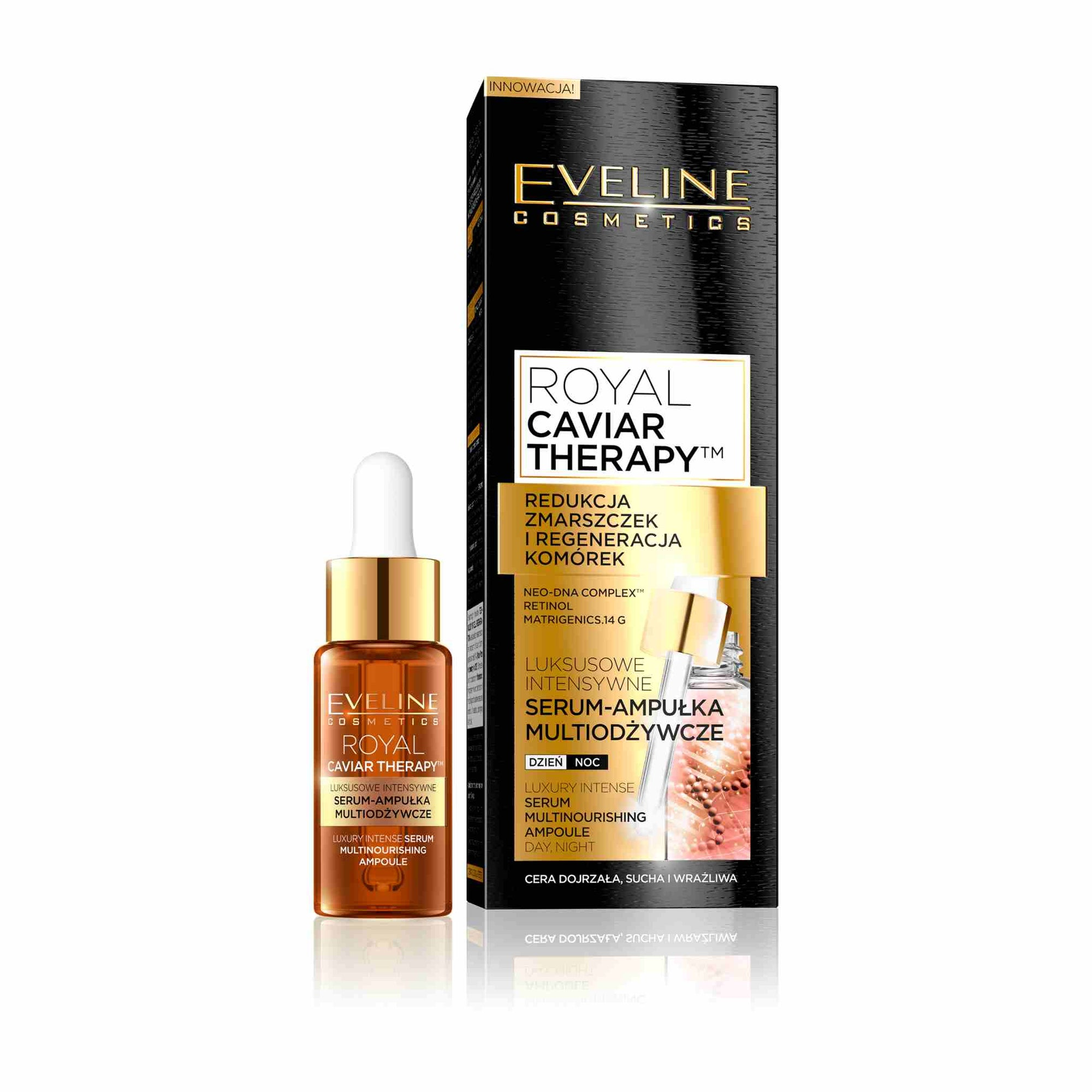 Royal Caviar Therapy Face Serum Ampoule Day and Night Cream