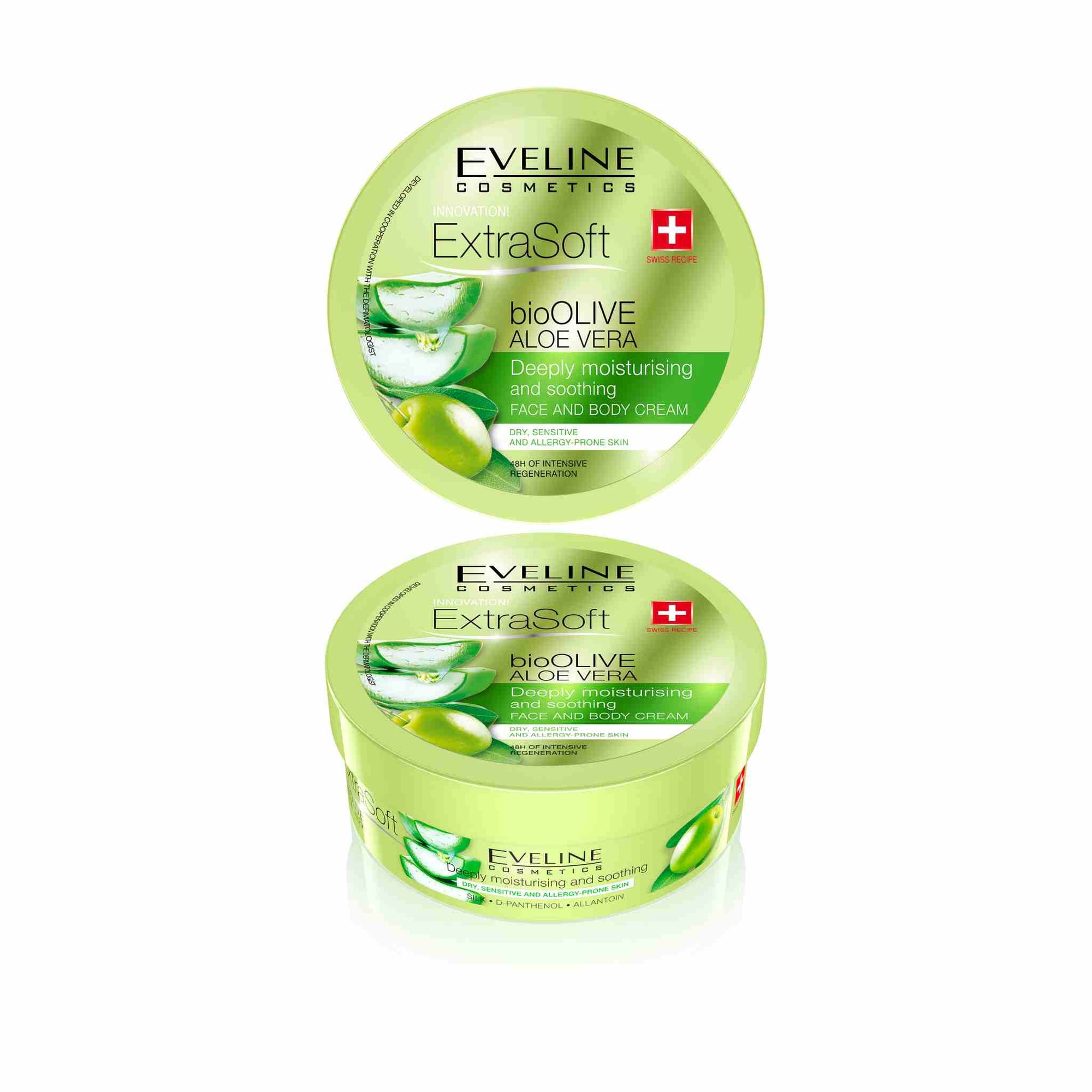 Extra Soft bio Olive Aloe Vera Deeply Moisturizing and Smoothing Face and Body Cream