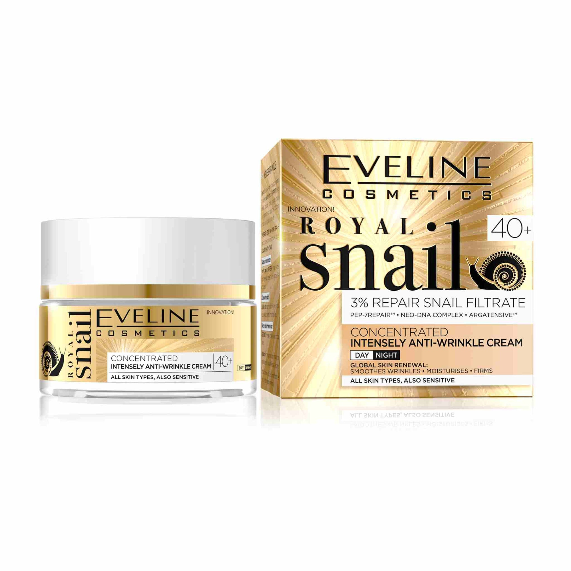 Royal Snail Concentrated Anti Wrinkle Day and Night Cream 40+