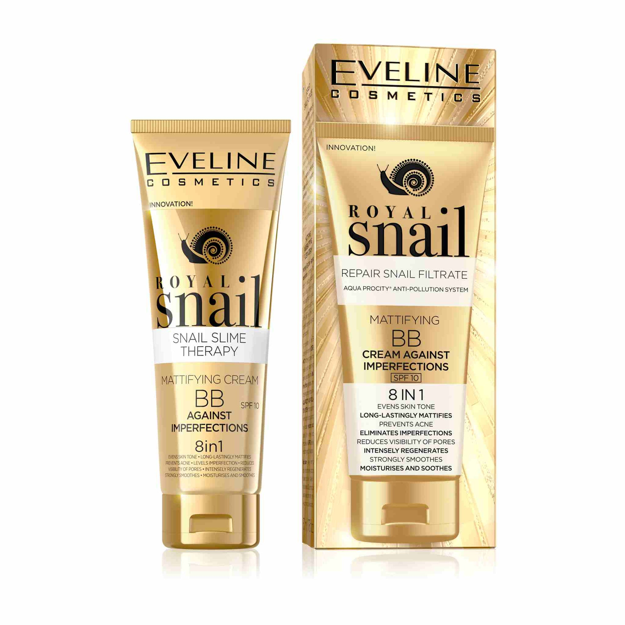 Royal Snail Mattifying BB Cream Against Imperfections SPF 10