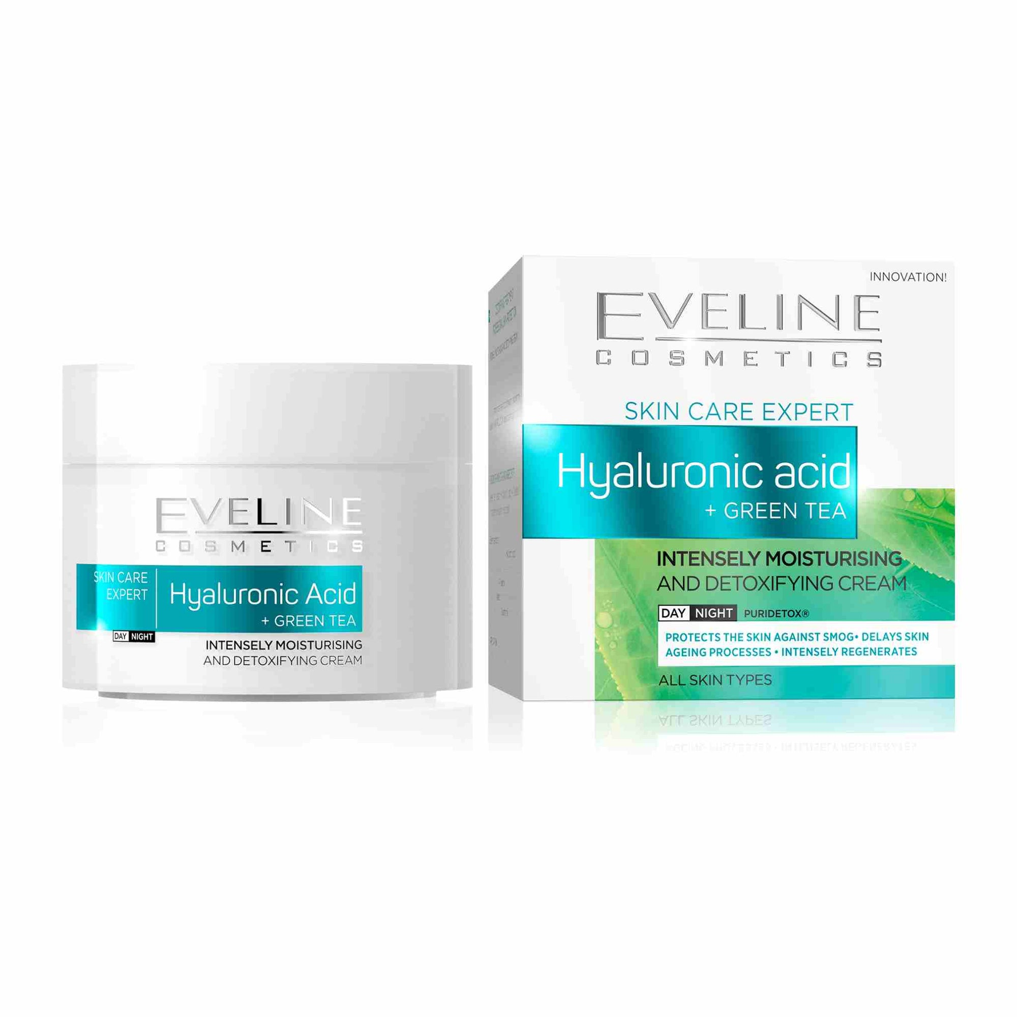 Skin Care Expert Hyaluronic Acid and Green Tea Day and Night Cream