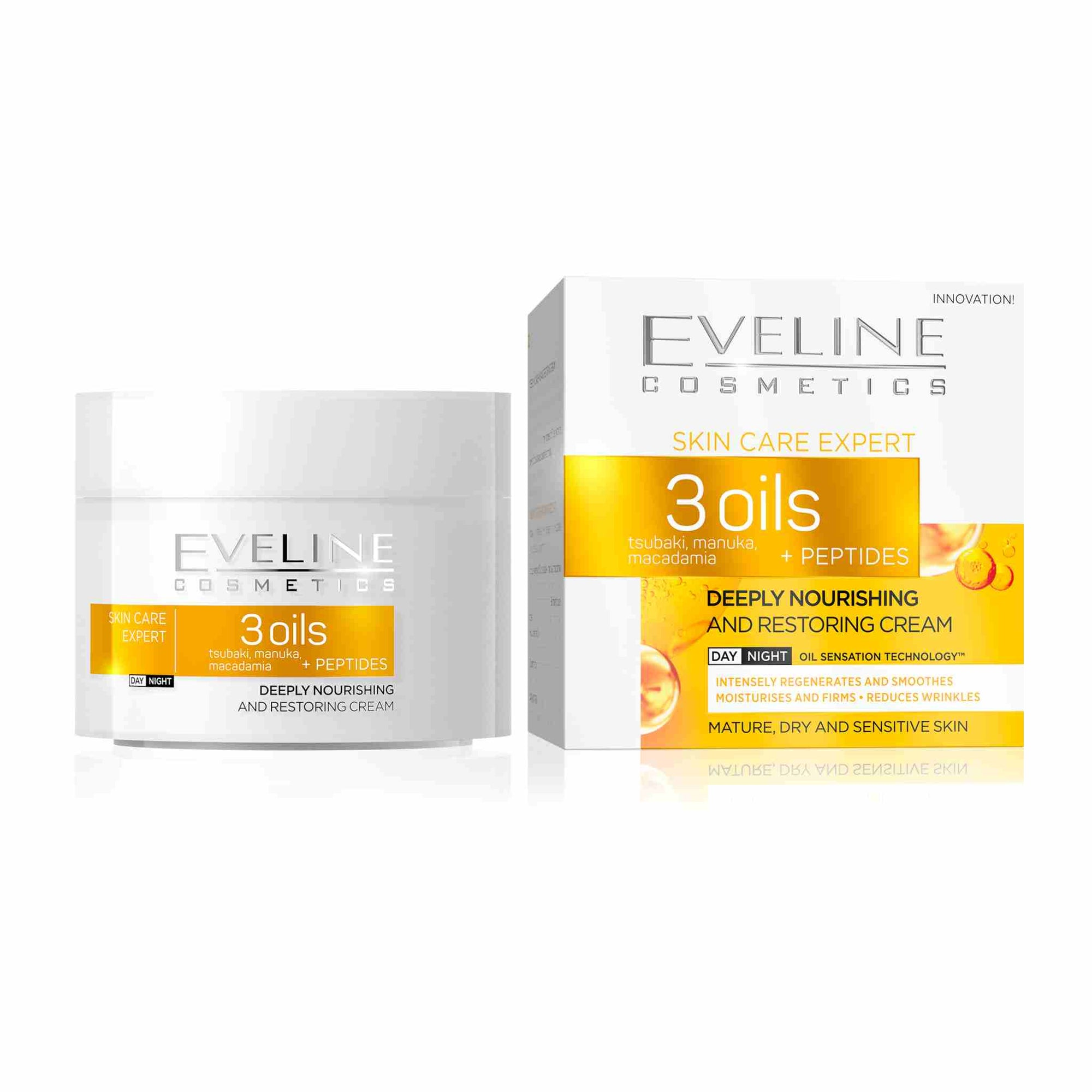 Skin Care Expert 3 Oils Deeply Nourishing and Restoring Day and Night Cream